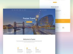 Fusion: Website template for travel agencies