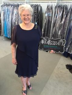 Anne is the Grandmother of the Groom & she looks beautiful in this Ursula of Switzerland dress for her grandson's wedding at The Laurel's in Grapevine, Texas! #tcarolyn #tcdressedme