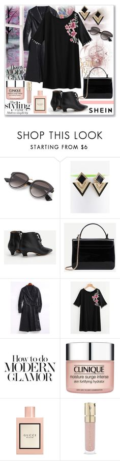 """Untitled #1571"" by ane-twist ❤ liked on Polyvore featuring Disney, Pure & Simple, Clinique, Gucci, Smith & Cult and DusterCoats"