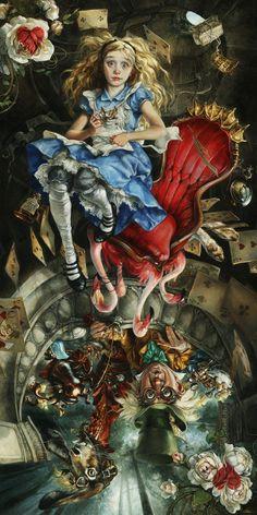 Alice in Wonderland, We're All Mad Here, Disney Art, Disney Fine Art, Heather Theurer, Alice, Wonderland, Wildstar Tempest