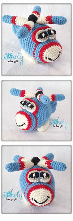 Amigurumi Pattern - helicopter crochet pattern http://www.ravelry.com/patterns/library/helicopter-amigurumi