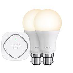 [CATALOGUE GENERAL 2015] Bundle WeMo LED Smart Light (baïonnette) / (vis): Allumez/éteignez /tamisez les ampoules par groupe ou individuellement depuis votre mobile ou votre tablette. Fonctionne et compatible avec tous les produits de la famille WeMo Intuitive. Durée de vie de 23 ans. Puissance similaire aux ampoules traditionnelles de 60 Watts. Plug ZigBee. Compatible IOS et Android. RÉF. F5Z0538VF (PRODUIT 1) & RÉF. F5Z0489VF (PRODUIT 2)…