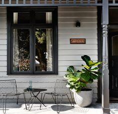 ideas house entrance porch colour for 2019 House Design, Cottage Exterior, House Entrance, House Front, Exterior Design, Weatherboard House, Porch Colors, House Painting, House Paint Exterior
