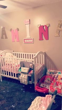 Baby Nursery Themes, Baby Decor, Nursery Room, Girl Nursery, Baby Room, Bedroom, Disney Girls Room, Baby Planning, Cute Baby Pictures