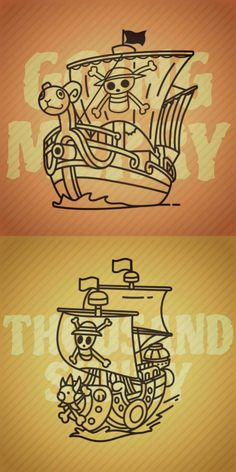 Going Merry and Thousand Sunny wallpaper edited by 'yannalogy' 42118 – One Piece One Piece Tattoos, Pieces Tattoo, One Piece Ship, One Piece Ace, Tatuagem One Piece, Sunny Go, Theme Tattoo, Der Plan, One Peace