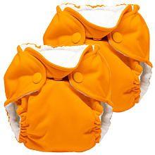 Kanga Care Lil Joey All in One Cloth Newborn Diaper 2 Pack - Pumpkin