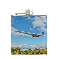 "Concorde Flasks - ""Concorde on Finals"" #aviation #aircraft #zazzle"