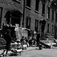 [Protest against evictions, shows children in prams, York Street, Dublin] Published / Created: 1964 In collection: The Wiltshire Photographic Collection Dublin City, York Street, Women's History, Prams, Old Pictures, Vintage Photos, Countries, Celtic, 1960s
