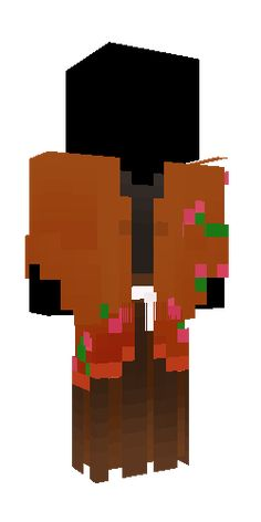 Minecraft Addons, Minecraft Skins, Samurai, Kimono, Japan, Ninja, Flowers, Cute, Orange