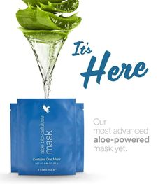 Forever's own aloe vera is woven into the fibers of aloe bio-cellulose mask, which fits every contour of the face and allows the serum to absorb more deeply to help moisturize and improve the appearance of fine lines and wrinkles. Forever Living Aloe Vera, Forever Aloe, Hydrating Serum, Best Skincare Products, Face Treatment, Forever Living Products, Dull Skin, Cellulite, Beauty Care