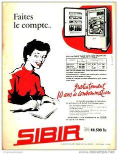 Original-Anzeige / Publicité 1957 - (en français) SIBIR - ca. 240 x 320 mm