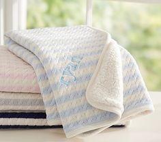 Emerson Stroller Blanket | Pottery Barn Kids / light pink for a girl, gray for a boy