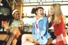 """Stacey Dash, Elisa Donovan and Alicia Silverstone as """"Dionne"""", """"Amber"""" and """"Cher"""" in Clueless. Clueless 1995, Clueless Fashion, 90s Fashion, Dionne Clueless Outfits, Fashion Outfits, Stacey Dash, Alicia Silverstone Clueless, Cher And Dionne, Clueless Aesthetic"""