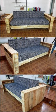 This wood pallet couch design framework is completely designed in modish and complimentary flavors into it. It is a giant structure piece of rectangle shaped terrace where the pattern work designing is giving out the whole design with attractive features. Try it now!