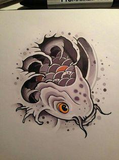 24 dessins de fleurs d'animaux de tatouage à la mode - Tattoo Gato, Carp Tattoo, Hannya Tattoo, Koi Fish Tattoo, Irezumi Tattoos, Tattoo Drawings, Body Art Tattoos, Flower Drawings, Marquesan Tattoos