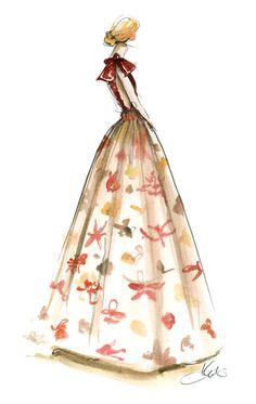 Valentino dress via @Katie Schmeltzer Rodgers #art #floral #Valentino