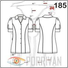 Выкройка блузки с рукавом фонарик сделана для летних хлопковых блузочных и сорочечных тканей. Блузка немного удлинённая и приталеная, шьётся с отрезными бо