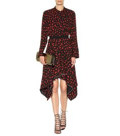GABRIELLE'S AMAZING FANTASY CLOSET   Proenza Schuler's Black and Red Silk Blouse with Matching Handkerchief Skirt (Alternate Front Image) You can see All of the Images and the rest of the Outfit and my Remarks on this board. - Gabrielle