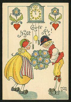 Вечера, шведская открытка по шведски