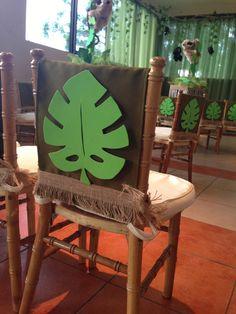 Decoracion silla infantil fiesta jungla