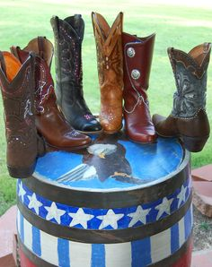 My bling boot collection.  Designed and made by me.  Do you need a pair too?