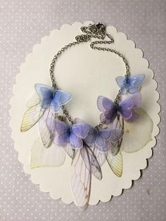 I Will Fly Away Handmade Blue Lavender Pale Yellow and