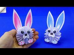 Cufarul Patriciei: Activitati - Cum facem iepurasi si cosulete din hartie Easy Paper Crafts, Paper Crafts Origami, Diy Origami, Paper Crafts For Kids, Diy Paper, Easter Crafts, Diy For Kids, Easter Ideas, Rabbit Crafts