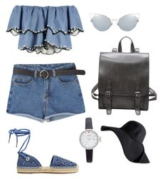 """""""Santorini Vibe"""" by indiracasheila ❤ liked on Polyvore featuring HUISHAN ZHANG, MICHAEL Michael Kors and Kate Spade"""