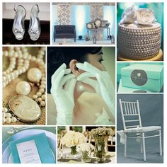 """What About """"Breakfast at Tiffany's"""" as Debut Inspiration? Here's the Classy Moodboard Debut Themes, Debut Ideas, Holly Golightly, Breakfast At Tiffanys, Tiffany Blue, Bridal, Classy, Baby Shower, Style Inspiration"""