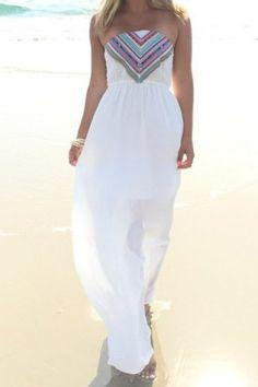 4e24b96dd13 Sexy Strapless Print Elastic Waist Maxi Dress - Now  14.52 (was   29.04)  Love