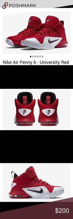 promo code d17dc 28373 Air penny 6 Nike air penny 6 university red these are suede sneakers in EUC  no