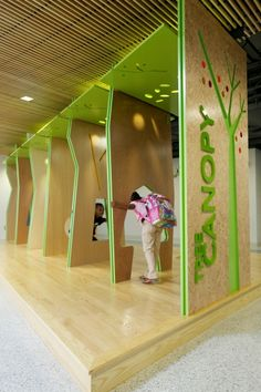 """The """"Woodland Hub"""" designed to encourage creative play; Photo Credit: Tom Daly. Buckingham County Primary and Elementary Schools at the Carter G. Woodson Education Complex Dillwyn, Virginia - Public School"""