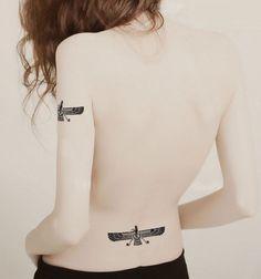 4 Pcs Punk Rock Fashion Totem Body Stickers