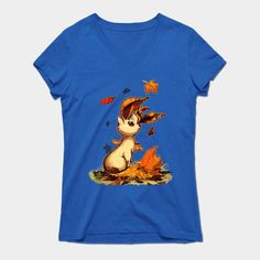 Leafeon Womens V-Neck T-Shirt