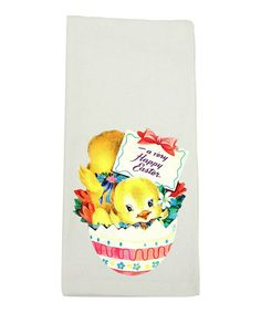 Look at this 'A Very Happy Easter' Dish Towel on #zulily today!