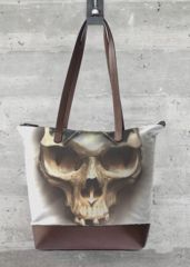 Skull:  Print on fabric custom made. What a beautiful product!