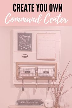 How to make your own Command Center for the whole family. If you're spring organizing your home this is the perfect DIY project for you! Hang this on your wall, in the kitchen, or entryway. Linen Closet Organization, Home Organisation, Diy Organization, Organizing Ideas, Hanging Organizer, Family Organizer, Family Command Center, Command Centers, Shiplap Boards