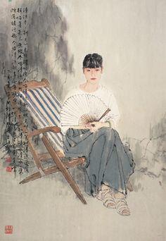 Blog of an Art Admirer: He Jiaying, Contemporary Chinese artist(aguada tinta china)