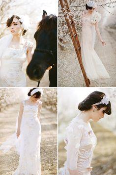 Claire Pettibone Wedding Dress  Almond Orchard Shoot by Stephanie Williams