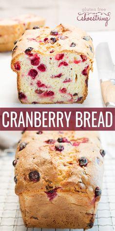 Gluten Free Cranberry Bread