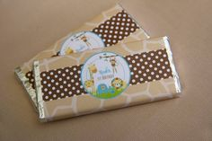 Boys Jungle Themed First Birthday Candy Favor Party Ideas