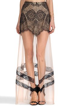 ANTIGUA MAXI SKIRT- This skirt is hideous, I don't even know where someone would wear this thing! Make up your mind; do you want a long skirt or a short one?