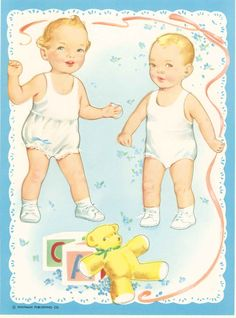 Baby Brother and Sister Paper Dolls