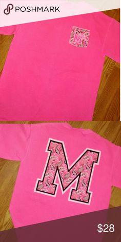 Memphis State Comfort Colors Tee Tigers Pressbox Tops Tees - Short Sleeve