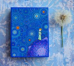 The Cosmic Little Prince Wood Block Print Art by ElspethMcLean, $9.50