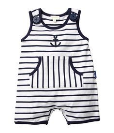 Nautical Striped Romper: Any little boy would be ready to set sail in this nautical romper ($30, originally $33).