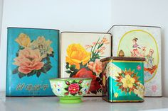 lovely vintage tins