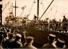 Embarquement sur le Force Rouen 1949