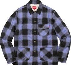 BUYMA.com Week12!!SUPREME17FW★Buffalo Plaid Sherpa Lined Chore Shirt 32462756