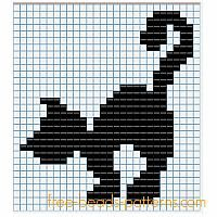 Halloween black cat free Hama Beads fuse beads pattern for children